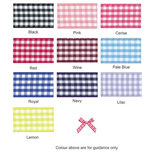 (08606G) Ribbon Bow 7mm Gingham