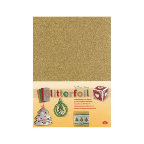 Self-adhesive Laminated Glitter Foil - A4 - Gold (3.0365)