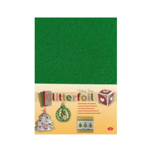 Self-adhesive Laminated Glitter Foil - A4 - Green (3.0368)