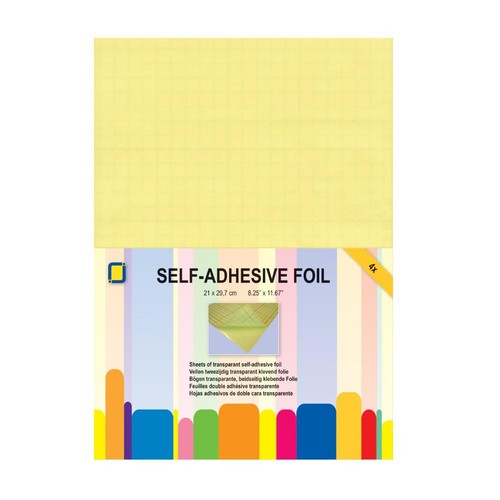 Double-Sided Adhesive Foil A4 Transparent 4 Sheet Pack (3.5005)