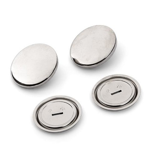 100 x 19mm Metal Cover Buttons (323120)