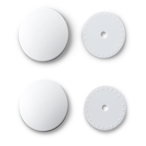 100 x 15mm Nylon Cover Buttons (323244)