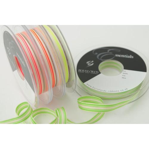 (6012210) Neon Stripe Ribbon (2 Flo Yellow)