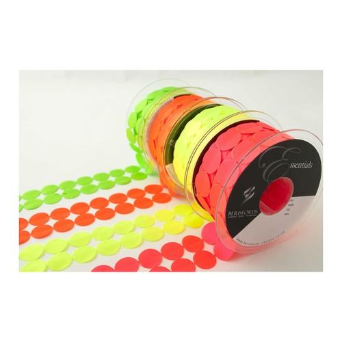 (7000140) Circles Laser Embossed Ribbon (6847 Flo Green)