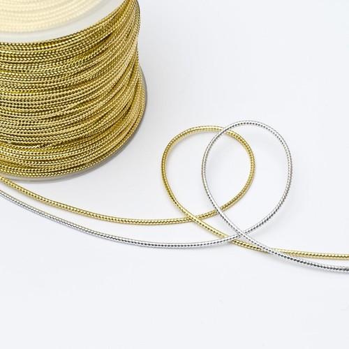 (812110) Metallic Cord 1mm x 100m (Gold)