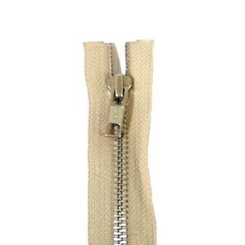 Extra Long Metal Open End 240cm Fawn Zip Fastener
