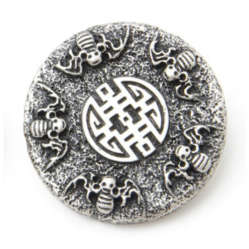 10 x Size 60 Fantasy Range Buttons (B47560) (Antique Silver)