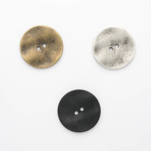 (B71024) 2 Hole Metal Buttons. Size 24.