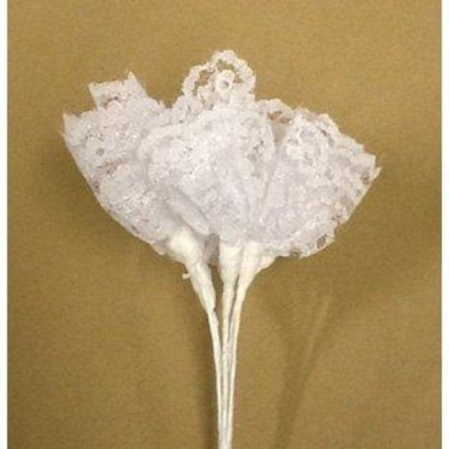 Lace Bunch - 3 Bunches with 6 Lace Flowers (BB1984) (White)
