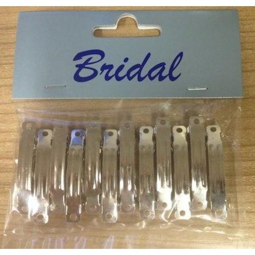 Metal Hair Clip x 12pcs (BB2085)