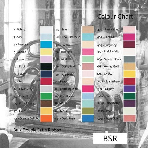 10mm Berisfords Double satin ribbon bulk spools (BSR10) 50m reel(70 Pale Pink)