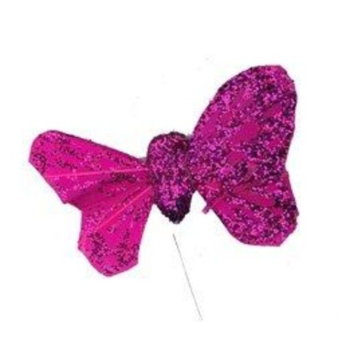 12 x Glitter Butterflies 55mm x 35mm Box (C4893)