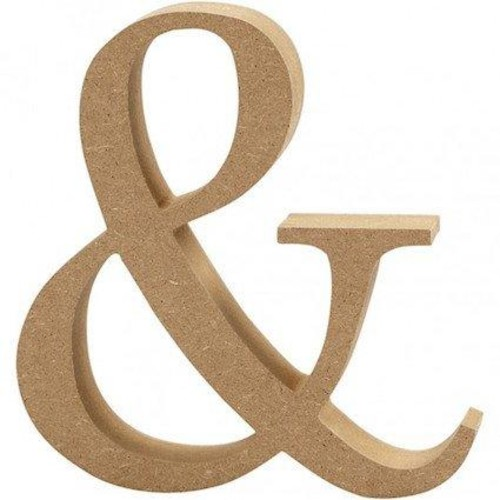 '&' Wooden Symbols 1 pc (CC56336)