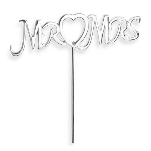 Mr & Mrs Stem With Heart Detail and Diamante (CCM640)