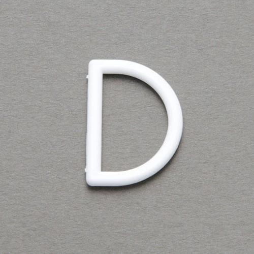 100 x 25mm D Rings Nylon White (CD30225)