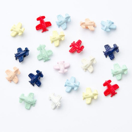 100 x Aeroplane Buttons (CN12) (30 Red)