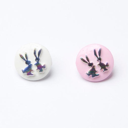 100 x Iridescent Bunny Buttons (CN19) (5 Pale Pink)