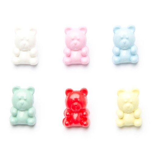 (CN35) Childrens Teddy Buttons (3 Yellow)