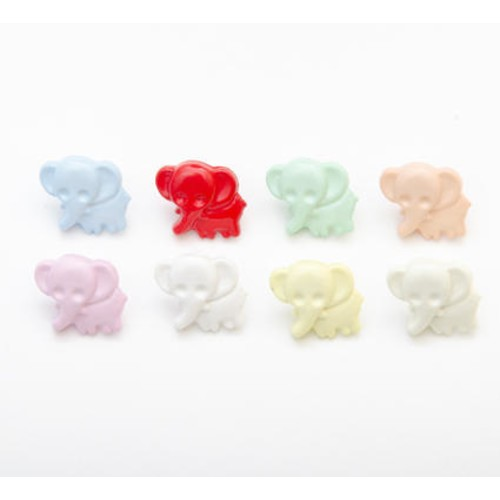 100 x Elephant Shape Buttons (CN38)