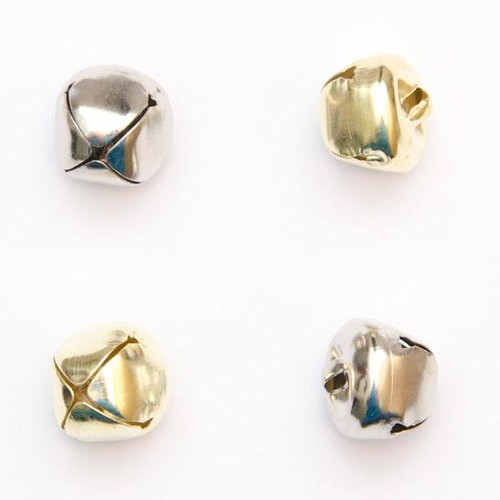 100 x 15mm Cat Bells x (CR5615) (Silver)
