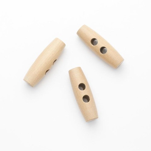 100 x 2 Hole Wooden Toggles 35mm (CW3735)