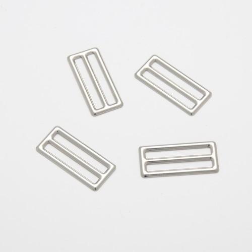 100 x 25mm 3 Bar Metal Sliders Silver (CX8125)