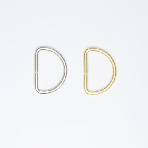 100 x 19mm D Rings Brass or Nickel (D19BS)