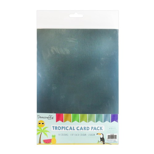 Tropical 8 Sheets of 8 Colours 250GSM A4 (DCBS206)