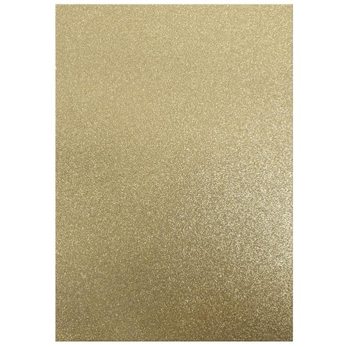 Dovecraft A4 Glitter x 20 Sheets Gold (DCGC03)