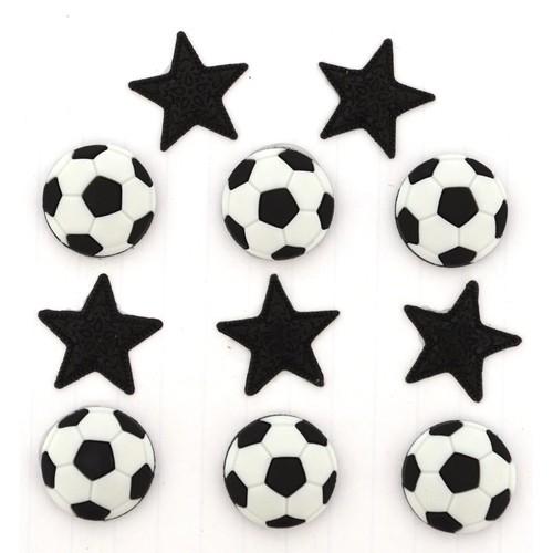 (DIU00418) - Dress It Up! Buttons - Soccer