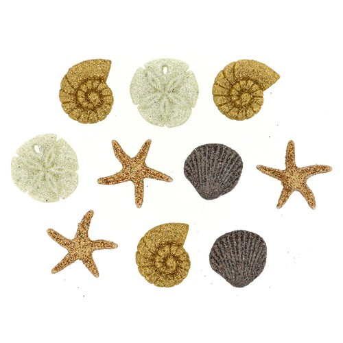(DIU00452) - Dress It Up! Buttons - Seashells