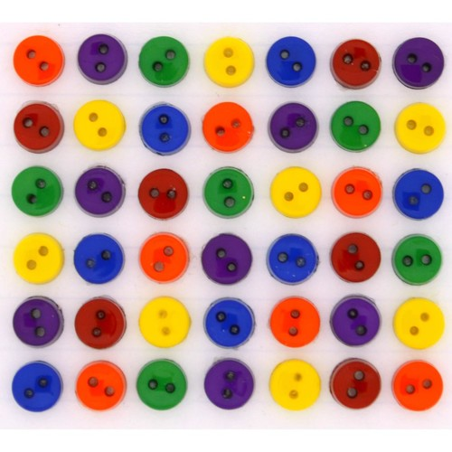 (DIU01347) - Dress It Up! Buttons - Tiny Round - Primary