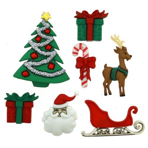 (DIU02464) - Dress It Up! Buttons - Christmas Eve