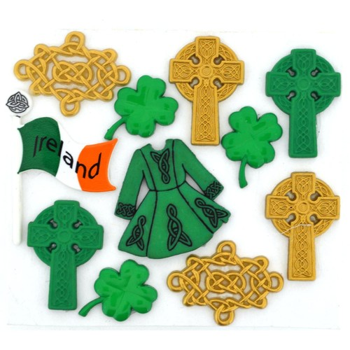(DIU03521) - Dress It Up! Buttons - Celtic Creations