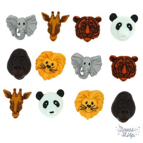 (DIU03601) - Dress It Up! Buttons - Animal World