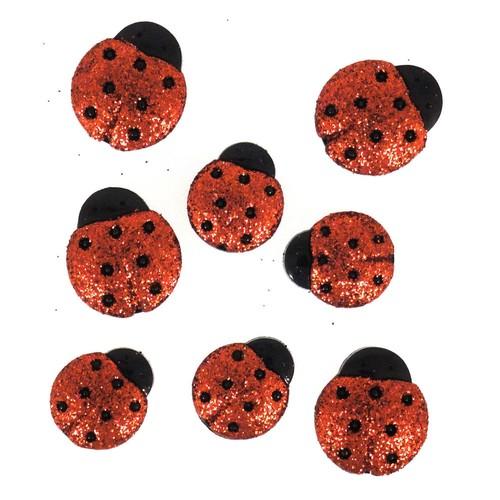 (DIU04426) - Dress It Up! Buttons - Ladybirds