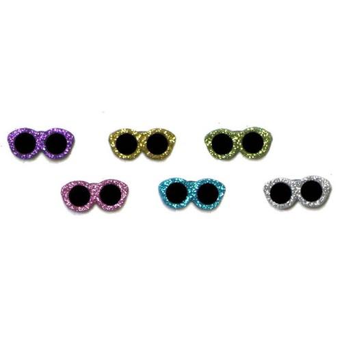 (DIU04429) - Dress It Up! Buttons - Glitter Sunglasses