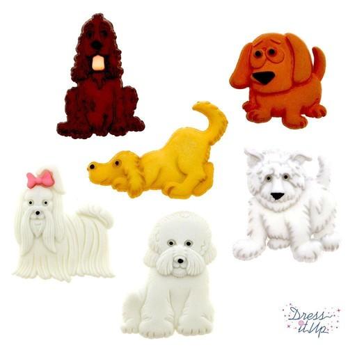 (DIU04674) - Dress It Up! Buttons - Puppy Parade