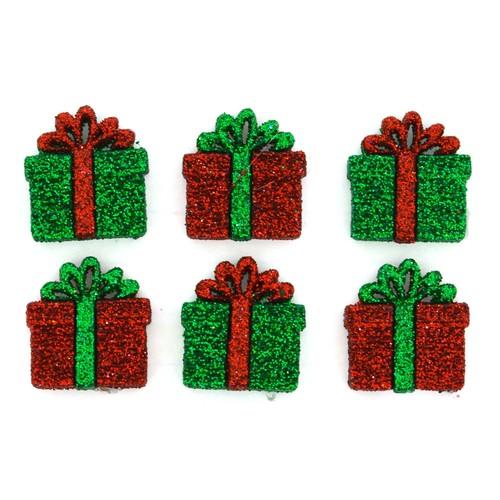 (DIU04978) - Dress It Up! Buttons - Small Glitter Presents