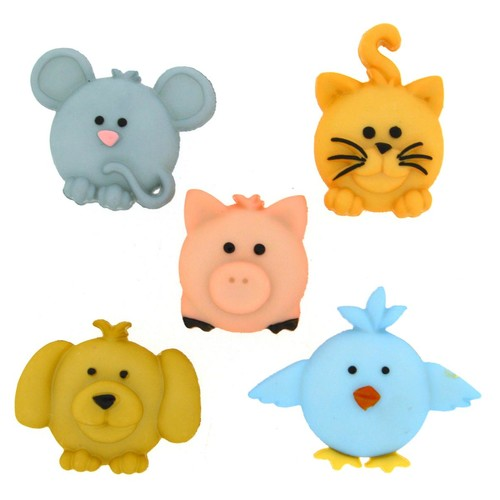 (DIU06557) - Dress It Up! Buttons - Pudgy Pets