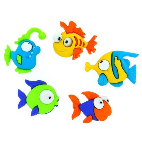 (DIU06952) - Dress It Up! Buttons - Somethin' Fishy