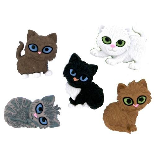 (DIU06971) - Dress It Up! Buttons - Kitten Kaboodle