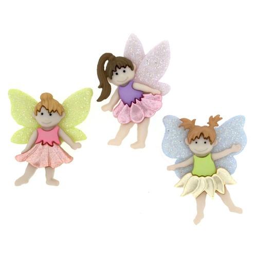 (DIU07022) - Dress It Up! Buttons - Flower Fairies