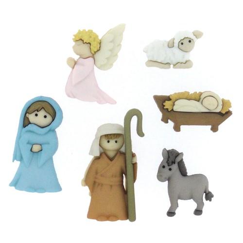 (DIU07473) - Dress It Up! Buttons - Nativity