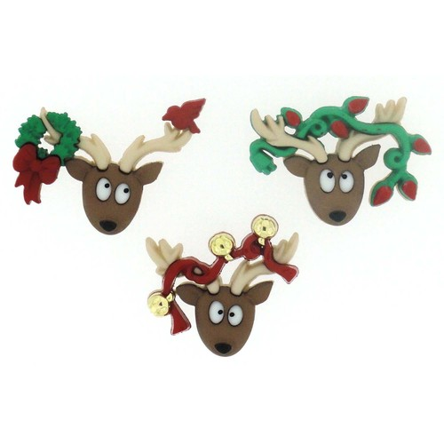 (DIU07498) - Dress It Up! Buttons - Oh Deer