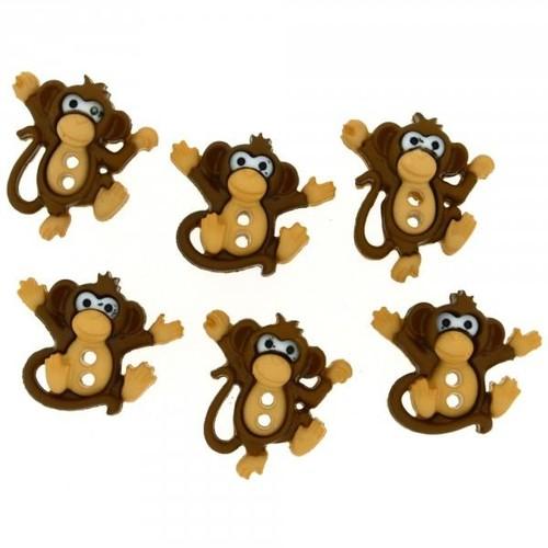 (DIU07678) - Dress It Up! Buttons - Monkeys