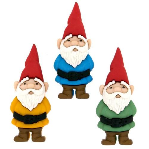 (DIU07696) - Dress It Up! Buttons - Garden Gnomes