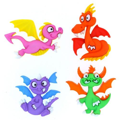 (DIU08299) - Dress It Up! Buttons - Dragon Tale