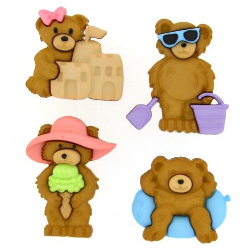 (DIU08314) - Dress It Up! Buttons - Summer Bears