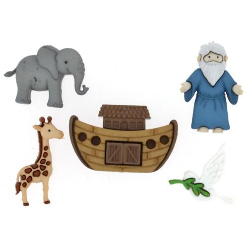 (DIU08975) - Dress It Up! Buttons - Noah's Ark